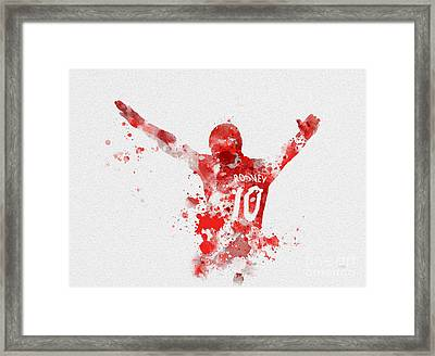 Red Devil Framed Print by Rebecca Jenkins