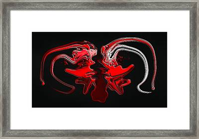 Red Devils Framed Print