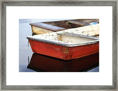 Red Dingy Framed Print