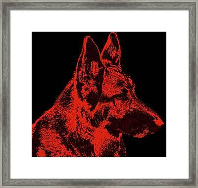 Red Dog - German Shepherd Framed Print