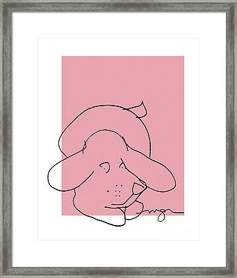 Red Dog Framed Print