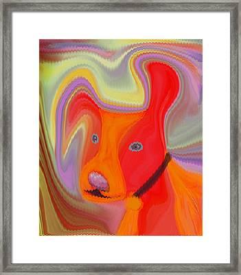 Red Dog Framed Print by Ruth Palmer