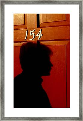 Red Door 154 Framed Print by Tony Ramos