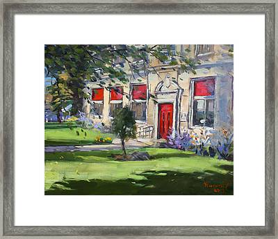 Red Door At The Nacc Framed Print