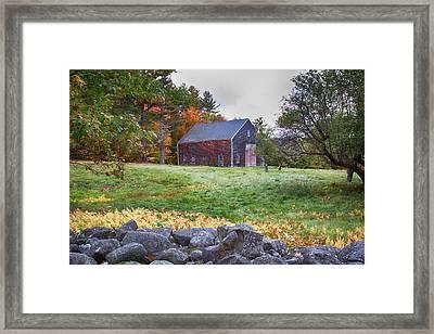 Red Door Barn Framed Print by Jeff Folger