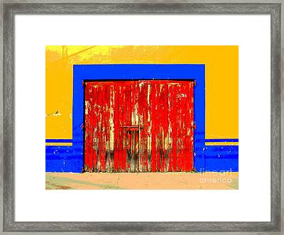 Red Door By Darian Day Framed Print