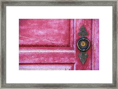 Red Door Framed Print by David Letts