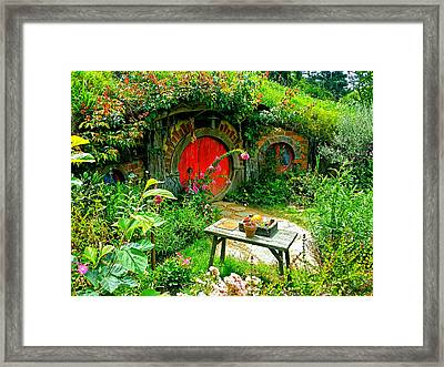 Red Door Hobbit Home Photo Framed Print by Kathy Kelly