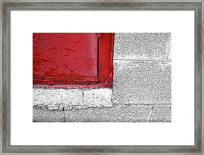 Red Door In The Alleyway Framed Print by Sandra Church