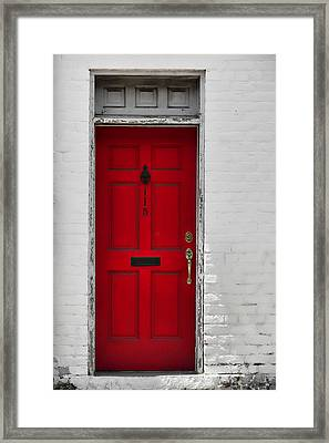 Red Door Framed Print by JAMART Photography