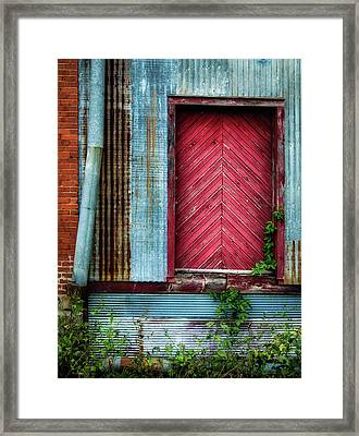 Framed Print featuring the photograph Red Door by James Barber