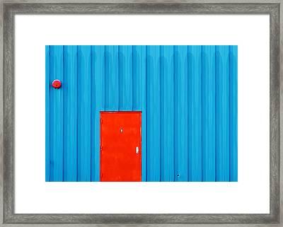 Red Door No. 9 Framed Print by Todd Klassy