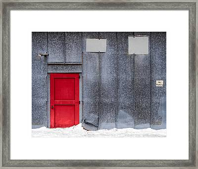 Red Door To Summer Framed Print