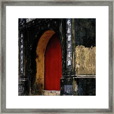 Red Doorway Framed Print