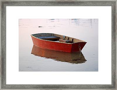 Red Dory Framed Print