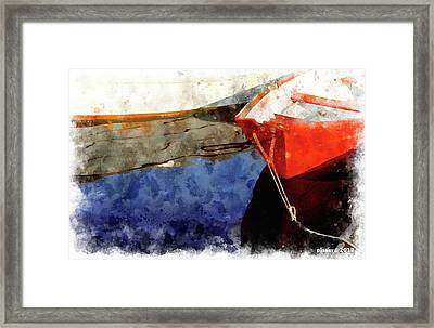 Red Dory Framed Print by Peter J Sucy