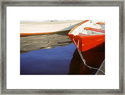 Red Dory Photo Framed Print by Peter J Sucy