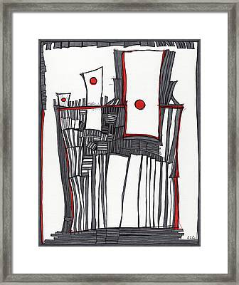 Red Dot Village Framed Print