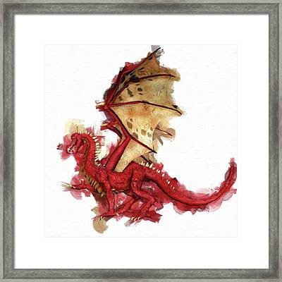 Red Dragon By Mary Bassett Framed Print