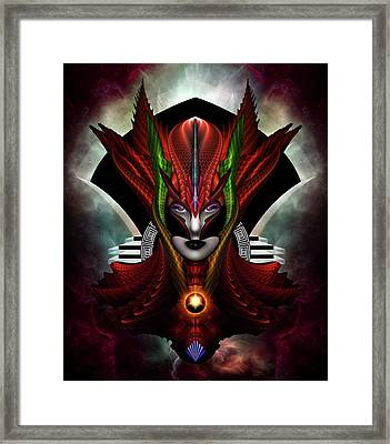 Red Dragon Taidushan Empress Framed Print