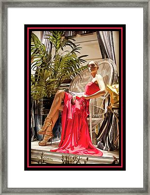 Framed Print featuring the photograph Red Dress - Chuck Staley by Chuck Staley
