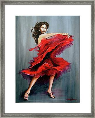 Red Dress Framed Print