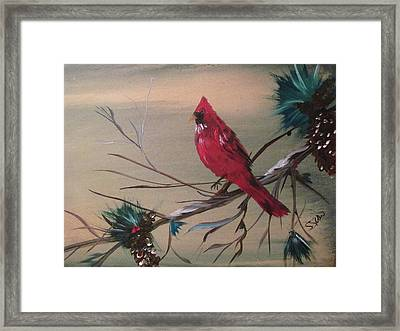 Red Drifter Framed Print