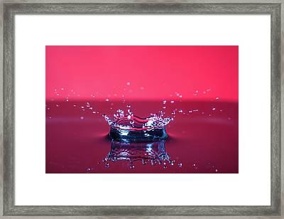Red Drop Framed Print