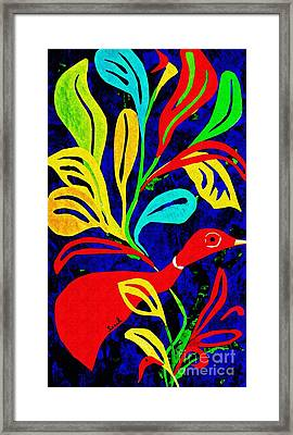 Red Duck Framed Print by Sarah Loft