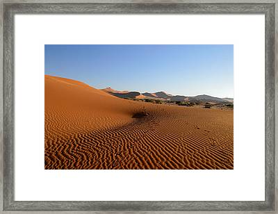 Framed Print featuring the photograph Red Dunes Of Namibia by Riana Van Staden