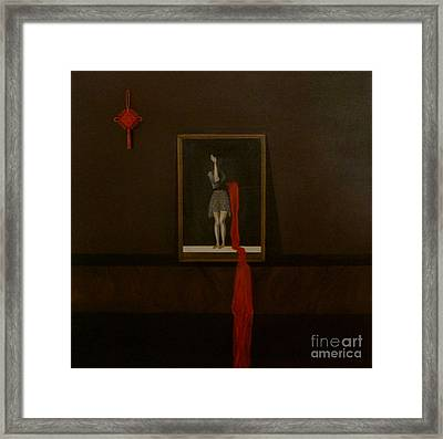 Red Echo Framed Print by Fei A