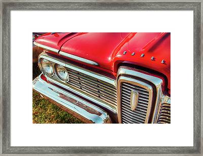 Red Edsel Framed Print by Russell Honey