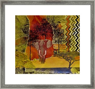 Red Elephant Framed Print by David Raderstorf