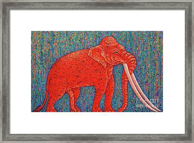 Red Elephant  Framed Print by Opas Chotiphantawanon