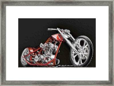 Red Embossed Custom Framed Print by Wayne Bonney