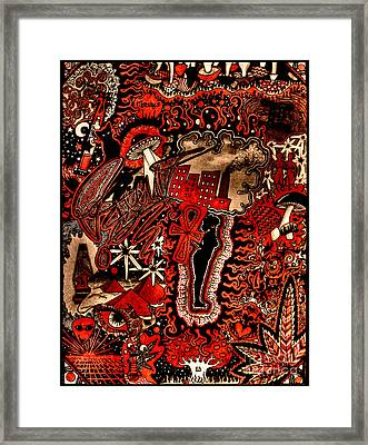 Red Existence Framed Print