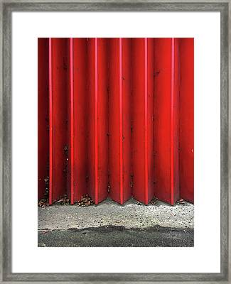Red Expanding Metal Framed Print