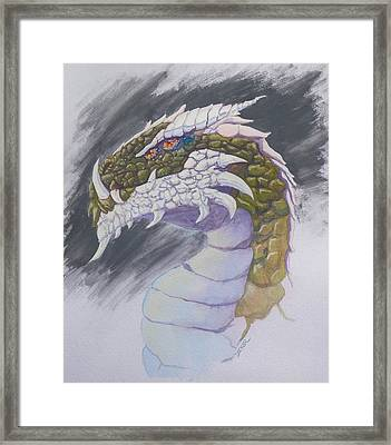 Red Eye Dragon Framed Print