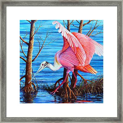 Red Eye Squared Framed Print