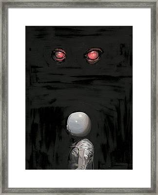 Framed Print featuring the painting Red Eyes by Scott Listfield