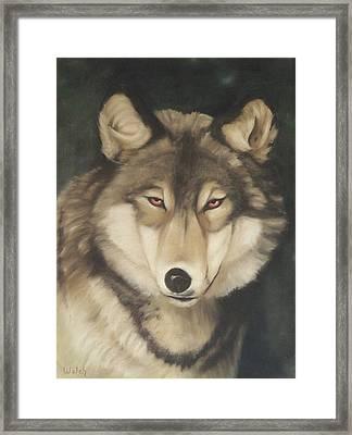 Red Eyes Framed Print by Steven Welch