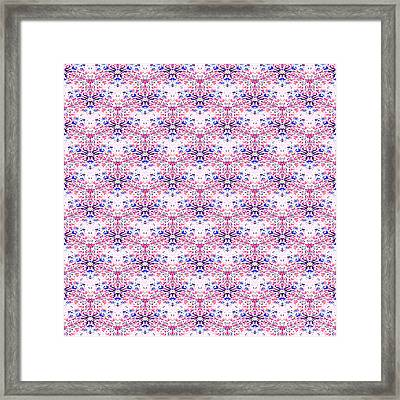 Red Fabric Pattern Framed Print