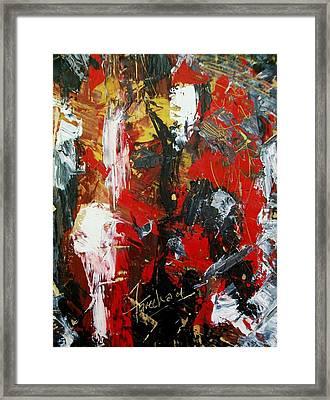 Red Fascism  Framed Print by Fareeha Khawaja
