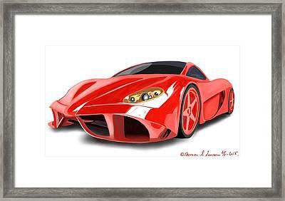 Red Ferrari Framed Print