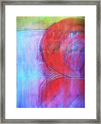 Red Figure Framed Print by Brant Gordon