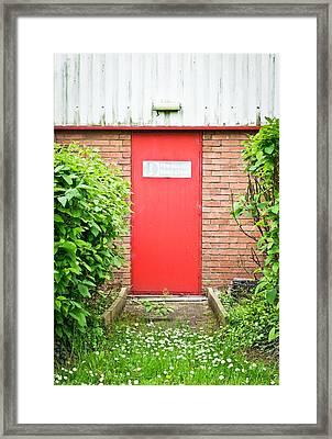 Red Fire Door Framed Print