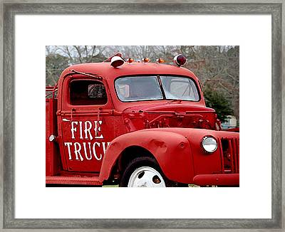 Red Fire Truck Framed Print