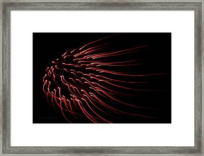 Framed Print featuring the photograph Red Firework  by Chris Berry