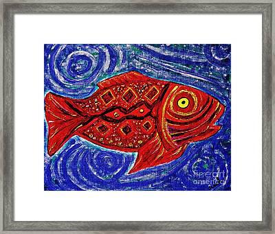 Red Fish Framed Print by Sarah Loft
