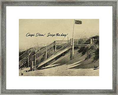 Red Flag Day Quote Framed Print by JAMART Photography